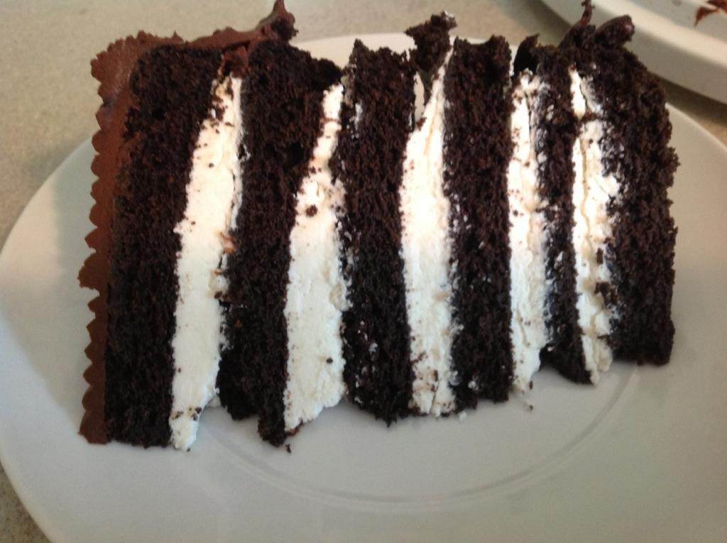 ... Sunday Mornings: Mile-High Chocolate Cake with Vanilla Buttercream